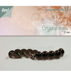 Crystal Eye Brown 10 mm 10 stk 6300/0606