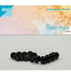 Bear Eye Black 9 mm 10 stk 6300/0613