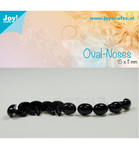 Oval Næse Black 15 x 11 mm 10 stk 6300/0632