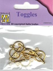 Lås BTOG002 Toggles Guld
