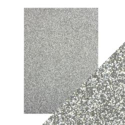 Glitter Paper 5 x A5 Silver 9941E
