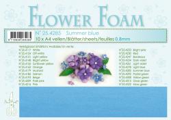 Leane Flower Foam A4 25.4285 Summer Blue