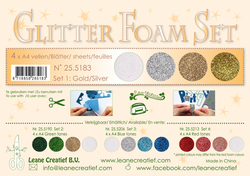 Leane Glitter Foam Pakning 25.5183 4 Assoteret Farver