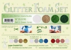 Leane Glitter Foam Pakning  25.5190 4 Assoteret farver