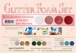 Leane Glitter Foam Pakning 25.5213 4 Assoteret Farver