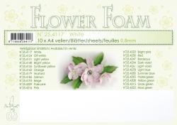 Leane Flower Foam A4 25.4117 White