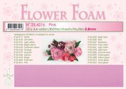 Leane Flower Foam A4 25.4216 Pink