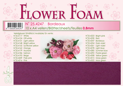Leane Flower Foam A4 25.4247 Bordeaux