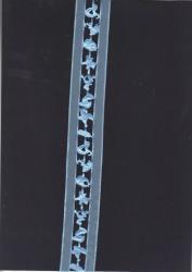 Pyntebånd 36 mm bred Blå 1 M.